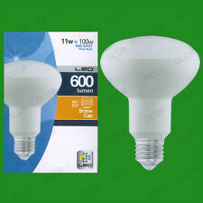 1x 11W Alta Potencia R80 LED Proyector con reflector E27 Bombilla Luz Lámpara del Globo 3000K