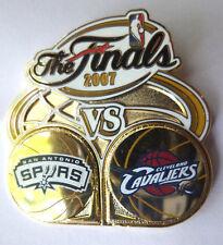 SPURS VS. CAVALIERS DUELING PIN - 2007 NBA FINALS