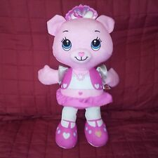 Fisher Price ROSE Pink Princess Doodle Bear 15in Stuffed Plush Crown 2011