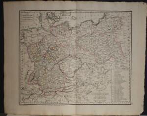 POLAND & LITHUANIA 1812 PIERRE LAPIE ANTIQUE ORIGINAL COPPER ENGRAVED MAP