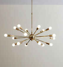Mid Century Brass Sputnik Chandelier 18 Arms Modern Pendant Lamp Ceiling Light