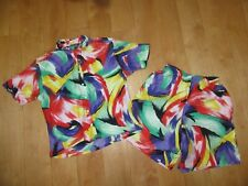 New listing Women's Vintage Land's End Bright & Busy Short Set S 6-8