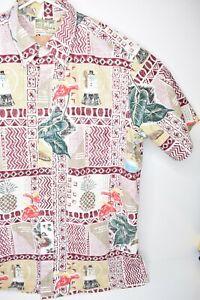 Vtg Reyn Spooner Mele Kalikimaka Santa Hawaiian Limited Issue Reverse Shirt XXL