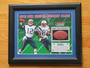 Upper Deck TOM BRADY & DEION BRANCH Super Bowl XXXIX Game Used Football PATRIOTS