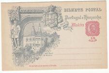 CARTE ENTIER POSTALE NEUF PORTUGAL COLONIE MADEIRA PACO REAL CINTRA 1498 / 1898