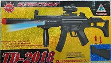 New Super combat Gun TD-2018 Rifle Toy vibration+ firing light with UV radiation