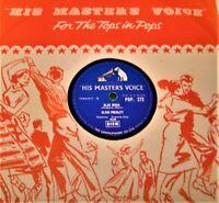 "ELVIS PRESLEY: Blue moon / I Don't Care If The Sun 10"" 78rpm HMV POP. 272 .EX"