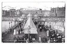 On the West Pier, Brighton PPC, 1919 PMK Shows Lifeboat Davit & Promenade