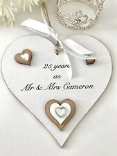 25th Wedding Anniversary Gift Sign Plaque Keepsake Shabby Chic P09