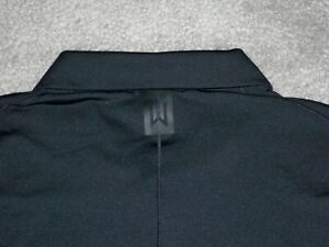 Men's NWOT NIKE DRY TIGER WOODS Vapor Golf Polo M BLACK & GRAY w/TW & NIKE Logo