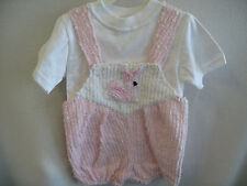 CUTE Blue Moon Pink Chenille Bunny  Romper 24 months Kids Clothing NEW!!!