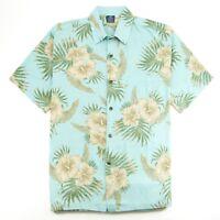 Hibiscus Collection Men's Hawaiian Aloha Shirt - Petro Print