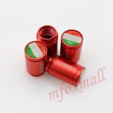 Red Style Auto Parts Wheel Tyre Tire Valve Stem Cap Cover IT Country Flag Trim