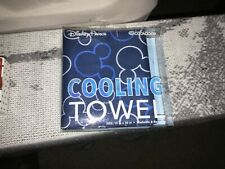 """Disney Parks Cooling Towel Blue Coolcore 15"""" x 36"""" Chemical Free - NEW"""