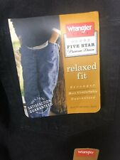 Wrangler Hero Relaxed Fit Mens Nwt Black Denim Jeans 34x34