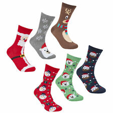 Zest Cotton Rich Ladies Festive Christmas Socks 6 Pack Multi