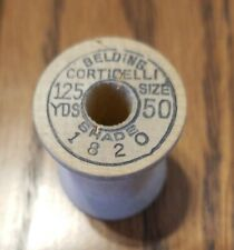 1 Empty Vintage Wood Sewing spool BELDING CORTICELLI crafts collectible (#1820)