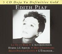 EDITH PIAF - DEFINITIVE GOLD 5 CD NEU