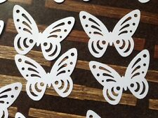 300+ XL WHITE large Perfect Hand punched Butterfly Cut out White Paper art