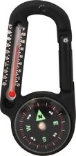 Aluminum Carabiner with Compass & Thermometer