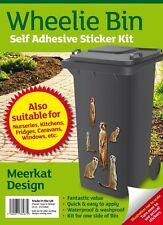Wheelie Bin Collectors Meerkat Stickers