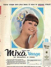 PUBLICITE ADVERTISING  1964   MIXA VISAGE  lait démaquillant