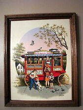 C. Carson Painting Jan's Popcorn Stand Signed Original Limited Edition 202/250