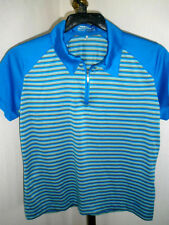 Womens Nike Golf Fit Dry 1/4 Zip Polo Sz Large (12-14) Excellent