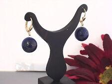 333 Gold Creolen Hänger Ohrhänger Brisurhänger Brisuren Lapiz Lapis Lazuli Blau