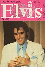 ELVIS MONTHLY No. 320 - 1986 (UK FANCLUB MAGAZINE ELVIS PRESLEY)