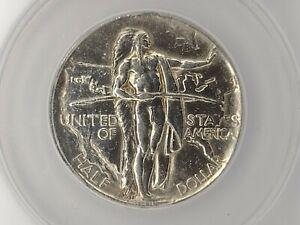 1926S Oregon Trail ANACS AU55 details cleaned Commemorative  Silver Half Dollar