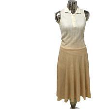Christian Dior London Cream Knit Vintage two Tone Dress UK M 12 (EU40) Women's