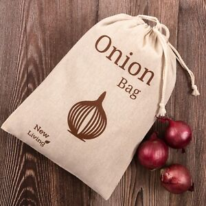 Onion Bag, Food Storage, Natural Linen, Eco Product, Fast Delivery