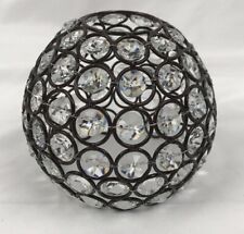 """Style Selections Bronze Crystal Globe Light Shade 4""""H NEW"""