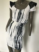 COOPER ST tie dye printed leatherette cap sleeve cocktail Dress SIZE 8 AUS