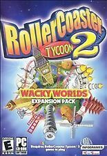 RollerCoaster Tycoon 2 & RollerCoaster Tycoon 2 Wacky Worlds expansion PC, 2003