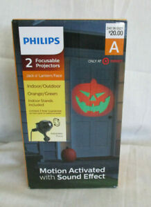 Halloween Philips Jack O Lantern Red/Cool White 2 Focus Projector Indoor/Outdoor