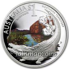 Celebrate Australia 2010 ANA Coin Show Crocodile Northern Territory $1 Silver Pf