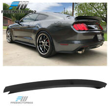 Fits 15-19 Ford Mustang R style Rear Trunk Spoiler Wing Lid Matte Black ABS