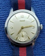 Vintage Tissot Mechanical Watch, SS Case, Beefy Lugs, Sub Seconds