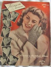 Vintage Knitting Book PARAGON Book 41 Ladies & Childrens Gloves Circa 1940