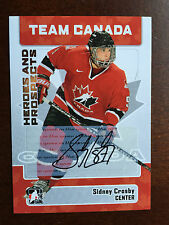 2006-07 ITG HEROES AND PROSPECTS TEAM CANADA SIDNEY CROSBY AUTOGRAPH RARE AUTO