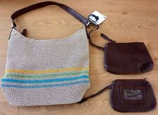 Jaclyn Smith Leather Handle Crochet Bag with 2 Bonus Items with Tags