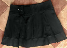 BEBE BLACK ABOVE THE KNEE  SKIRT WITH PLEATS AND BIG BUCKLE s 6