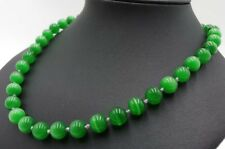 Gemstone Round Beads Necklace 18'' New 10mm Green Mexican Opal