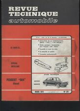 (169A) Revue technique automobile Peugeot 504 Diesel Moteur indenor / Simca 1100