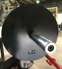 """(2) 45 lb Custom Olympic Weight Plates - 90 total pounds - 2"""" center hole"""