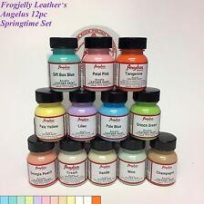 Angelus Acrylic Leather Paints - Springtime Palette - Set of 12