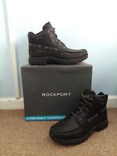 BLACK ROCKPORT FITCHBURG MEN WATERPROOF BOOTS UK 8 EUR 42 NEW IN BOX