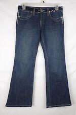 BCBGirls Womens Jeans Size 28 (32.5x30) Dark Wash Mick Flare Cotton Blend